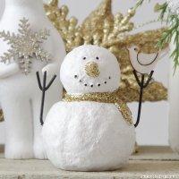 クリスマスオブジェ プチスノーマン