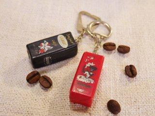 フランスアンティークキーホルダー EXELLAコーヒー箱