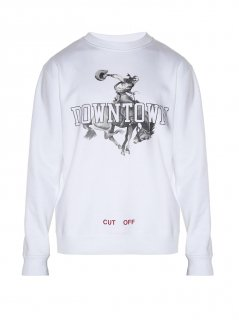Downtown-print sweatshirt《White》<img class='new_mark_img2' src='https://img.shop-pro.jp/img/new/icons16.gif' style='border:none;display:inline;margin:0px;padding:0px;width:auto;' />