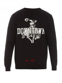 Downtown-print sweatshirt《Black》<img class='new_mark_img2' src='https://img.shop-pro.jp/img/new/icons16.gif' style='border:none;display:inline;margin:0px;padding:0px;width:auto;' />