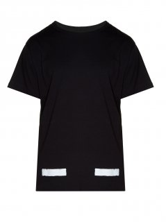 Logo-print T-shirt《Black》