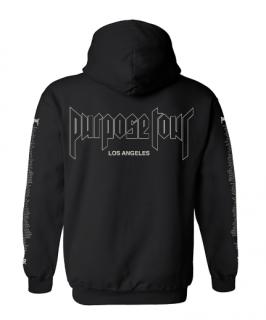 Purpose Tour LosAngeles Hoodie《Black》