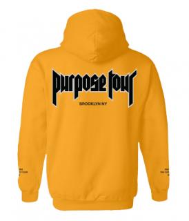 Purpose Tour Brooklyn Hoodie《Gold》