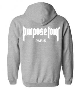 Purpose Tour Paris Hoodie《Grey》