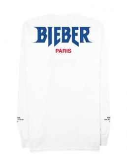 Bieber Paris Longsleeve Shirt《White》