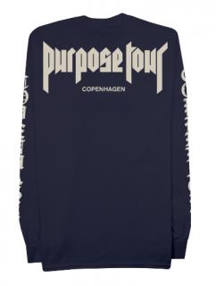 Purpose Tour Copenhagen Longsleeve Shirt《Navy》