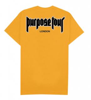 Purpose Tour London T-Shirt《Gold》
