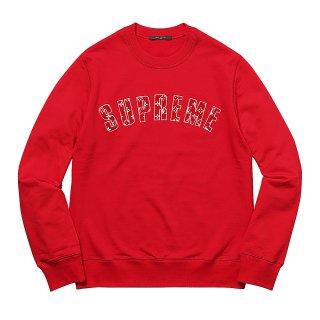 Supreme×Louis Vuitton Arc Logo Crewneck《Red》