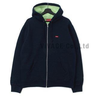 Contrast Zip Up Hooded Sweatshirt