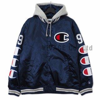Supreme?/Champion? Hooded Satin Varsity Jacket