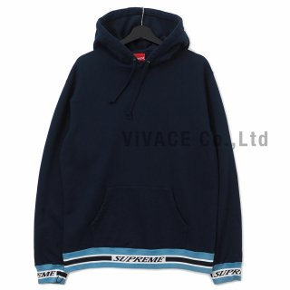 Striped Rib Hooded Sweatshirt
