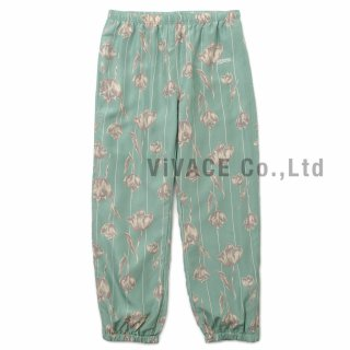Floral Silk Track Pant
