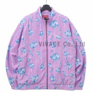 Floral Silk Track Jacket