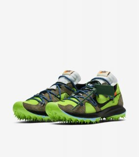 OFF-WHITE AIR ZOOM TERRA KIGER 5《Electric Green/Metallic Silver-Sail》