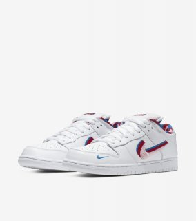 PIET PARRA SB DUNK LOW 《White/Pink Rise-Gym Red》