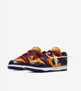 OFF-WHITE DUNK LOW GOLD《University Gold/Midnight Navy-White》