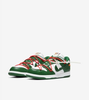 OFF-WHITE DUNK LOW GREEN《White/Pine Green-Pine Green》