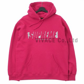 Reflective Cutout Hooded Sweatshirt