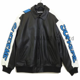 Supreme®/Smurfs™ Leather Varsity Jacket