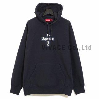 Cross Box Logo Hooded Sweatshirt