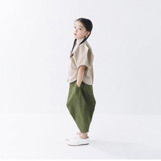 <img class='new_mark_img1' src='https://img.shop-pro.jp/img/new/icons20.gif' style='border:none;display:inline;margin:0px;padding:0px;width:auto;' />nunuforme   Kids   ショルダーダーツシャツ/  beige 105cm last one!   50%off