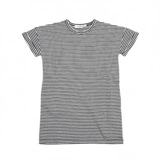 <img class='new_mark_img1' src='https://img.shop-pro.jp/img/new/icons20.gif' style='border:none;display:inline;margin:0px;padding:0px;width:auto;' />MINGO   T-shirt  dress / Black&White stripes. 30%off