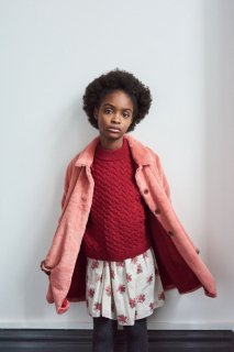 <img class='new_mark_img1' src='https://img.shop-pro.jp/img/new/icons20.gif' style='border:none;display:inline;margin:0px;padding:0px;width:auto;' />CARAMEL    ELPIS  Faux fur coat  / flamingo 3y last one! 50%off