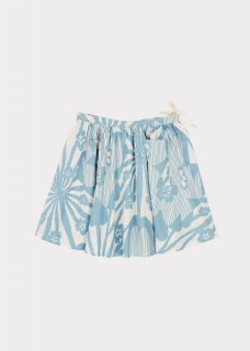 <img class='new_mark_img1' src='https://img.shop-pro.jp/img/new/icons20.gif' style='border:none;display:inline;margin:0px;padding:0px;width:auto;' />CARAMEL  NORTON SKIRT 3Y-6Y / BLUE JAPANESE FLOWER PRINT 40%off