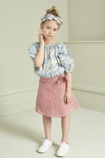 <img class='new_mark_img1' src='https://img.shop-pro.jp/img/new/icons20.gif' style='border:none;display:inline;margin:0px;padding:0px;width:auto;' />CARAMEL  BLOOMSBURY SKIRT 4Y-6Y /  RED & WHITE 4y last one! 40%off