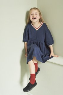 <img class='new_mark_img1' src='https://img.shop-pro.jp/img/new/icons20.gif' style='border:none;display:inline;margin:0px;padding:0px;width:auto;' />CARAMEL  ISLINGTON DRESS 3Y-6Y / NAVY. 4y last one! 40%off