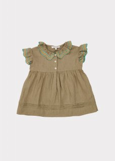 <img class='new_mark_img1' src='https://img.shop-pro.jp/img/new/icons20.gif' style='border:none;display:inline;margin:0px;padding:0px;width:auto;' />CARAMEL  SLOANE SQUARE BABY DRESS /  SAGE.18m last one!  40%off