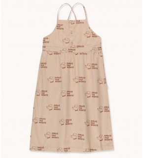 "<img class='new_mark_img1' src='https://img.shop-pro.jp/img/new/icons20.gif' style='border:none;display:inline;margin:0px;padding:0px;width:auto;' /> TINYCOTTONS   ""DOGS "" CROSS BACK DRESS  / light nude &  cinnamon  30%off"