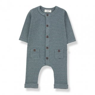 <img class='new_mark_img1' src='https://img.shop-pro.jp/img/new/icons20.gif' style='border:none;display:inline;margin:0px;padding:0px;width:auto;' />1+in the family  HUDSON JUMPSUIT  / salvia&blue notto. 6m last one! 30%off