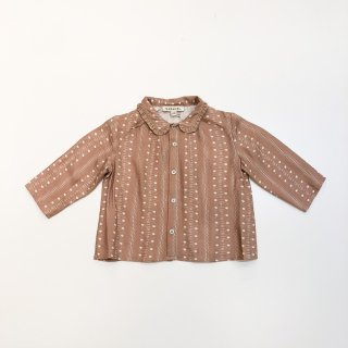 <img class='new_mark_img1' src='https://img.shop-pro.jp/img/new/icons20.gif' style='border:none;display:inline;margin:0px;padding:0px;width:auto;' />CARAMEL  Tern Baby Shirt / Chestnut Dotty Print 2y last one! 30%off