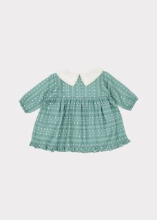 <img class='new_mark_img1' src='https://img.shop-pro.jp/img/new/icons20.gif' style='border:none;display:inline;margin:0px;padding:0px;width:auto;' />CARAMEL  Buzzard Baby Dress /  Teal Dotty Print  12m,18m,2y 30%off