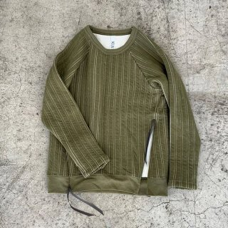 <img class='new_mark_img1' src='https://img.shop-pro.jp/img/new/icons20.gif' style='border:none;display:inline;margin:0px;padding:0px;width:auto;' />MOUN TEN.    stripe quilt long sleeve / khaki 30%off.  125cm last one!