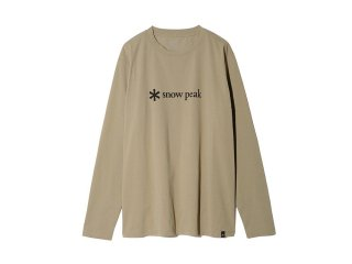 <img class='new_mark_img1' src='https://img.shop-pro.jp/img/new/icons20.gif' style='border:none;display:inline;margin:0px;padding:0px;width:auto;' />Snow peak  MM Printed Logo L/S Tee ユニセックスサイズ / Beige 30%off