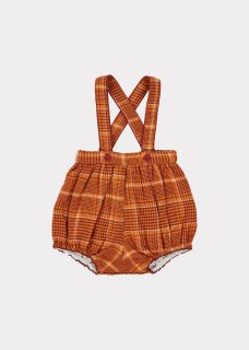 <img class='new_mark_img1' src='https://img.shop-pro.jp/img/new/icons20.gif' style='border:none;display:inline;margin:0px;padding:0px;width:auto;' />CARAMEL    Dunlin Baby Romper/ Orange Check 30%off