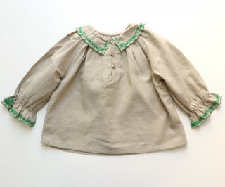 <img class='new_mark_img1' src='https://img.shop-pro.jp/img/new/icons20.gif' style='border:none;display:inline;margin:0px;padding:0px;width:auto;' />CARAMEL  RUFF BABY BLOUSE /  Thunder.18m last one! 30%off