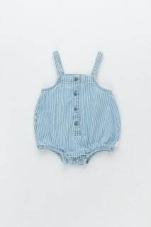 <img class='new_mark_img1' src='https://img.shop-pro.jp/img/new/icons14.gif' style='border:none;display:inline;margin:0px;padding:0px;width:auto;' />TINYCOTTONS  STRIPED DENIM BALLOON BODYstripes denim. 18m last one!