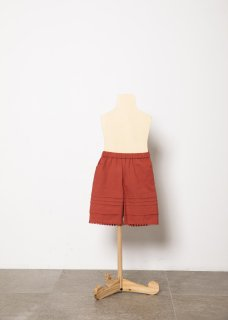 <img class='new_mark_img1' src='https://img.shop-pro.jp/img/new/icons14.gif' style='border:none;display:inline;margin:0px;padding:0px;width:auto;' />folk made  tuck short pants / brick red