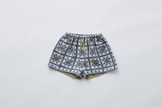<img class='new_mark_img1' src='https://img.shop-pro.jp/img/new/icons14.gif' style='border:none;display:inline;margin:0px;padding:0px;width:auto;' />eLfin Folk  Amish quilt shorts / smoke blue  90cm last one!