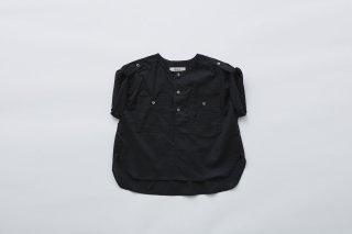 <img class='new_mark_img1' src='https://img.shop-pro.jp/img/new/icons20.gif' style='border:none;display:inline;margin:0px;padding:0px;width:auto;' />eLfin Folk  cotton lawn safari shirts / black. 30%OFF