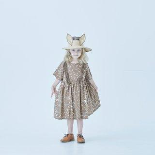 <img class='new_mark_img1' src='https://img.shop-pro.jp/img/new/icons14.gif' style='border:none;display:inline;margin:0px;padding:0px;width:auto;' />eLfin Folk  QiLin one piece dress / brown  110cm last one!