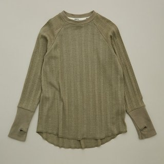 <img class='new_mark_img1' src='https://img.shop-pro.jp/img/new/icons14.gif' style='border:none;display:inline;margin:0px;padding:0px;width:auto;' />MOUN TEN.  vintage rib long sleeve / khaki
