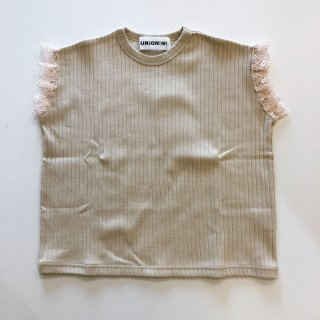 <img class='new_mark_img1' src='https://img.shop-pro.jp/img/new/icons14.gif' style='border:none;display:inline;margin:0px;padding:0px;width:auto;' />UNIONINI   teddybear lace rib tops / beige