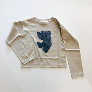<img class='new_mark_img1' src='https://img.shop-pro.jp/img/new/icons14.gif' style='border:none;display:inline;margin:0px;padding:0px;width:auto;' />UNIONINI  teddybear long sleeved tee / beige.   6-8y last one!