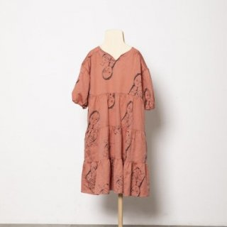 <img class='new_mark_img1' src='https://img.shop-pro.jp/img/new/icons14.gif' style='border:none;display:inline;margin:0px;padding:0px;width:auto;' />folk made  face print dress / pink rose print