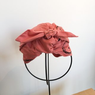 <img class='new_mark_img1' src='https://img.shop-pro.jp/img/new/icons14.gif' style='border:none;display:inline;margin:0px;padding:0px;width:auto;' />folk made  face print turban / pink rose