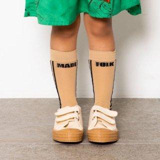 <img class='new_mark_img1' src='https://img.shop-pro.jp/img/new/icons14.gif' style='border:none;display:inline;margin:0px;padding:0px;width:auto;' />folk made  soft touch rogo socks / beige&black